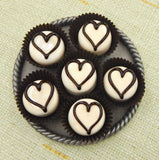 Vanilla & Chocolate Heart Treat