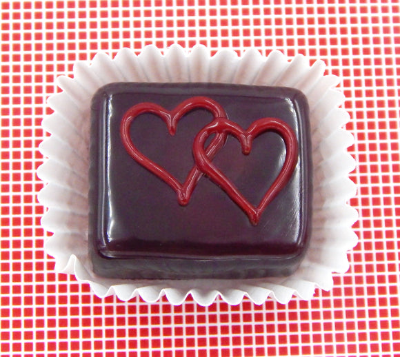 Chocolate Treat with Double Cherry Hearts