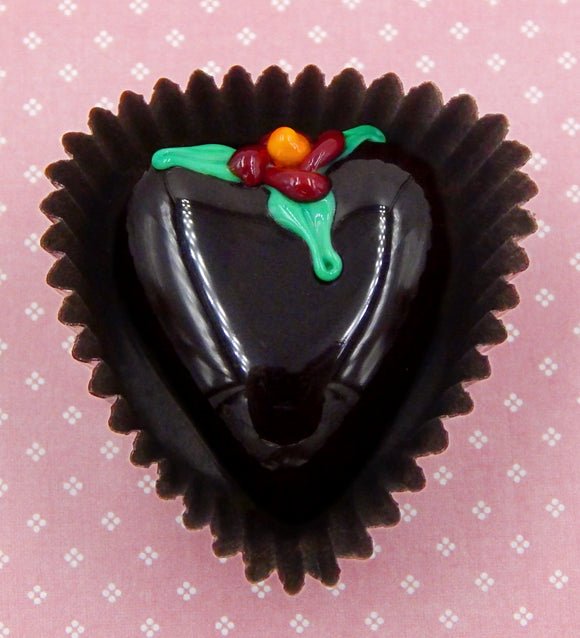 Heart Shaped Chocolate with Flower