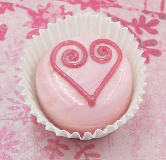 Strawberry Glass Chocolate Heart Treat