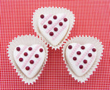 White Chocolate Heart with Lines & Dots
