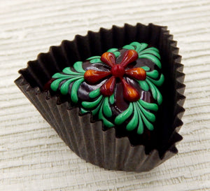 Chocolate Triangle Treat with Flower