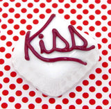 "White Chocolate with Cherry Red ""Kiss"""