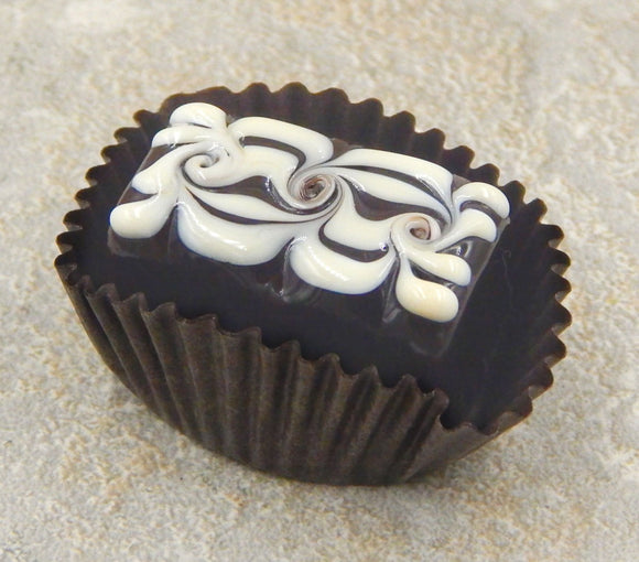 Chocolate Bar with Vanilla Design