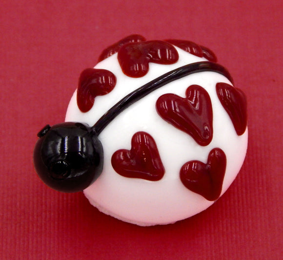 White Love Bug Ladybug Chocolate