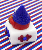 Patriotic Gnome Petit Four Chocolate Treat