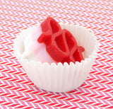 Valentine Ribbon Candy Collectible Art Glass Treat