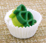 St. Patrick's Ribbon Candy Collectible Art Glass Treat
