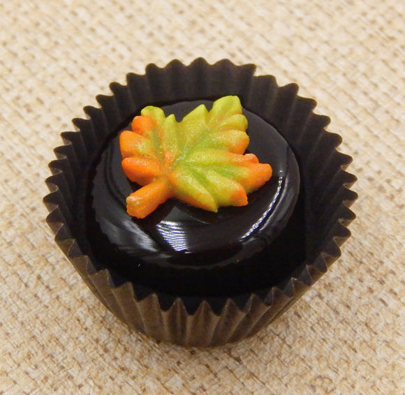Fall Leaf on Chocolate