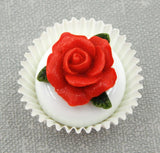 Red Rose on White Chocolate