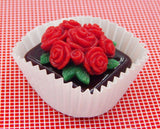 Red Rose Bouquet on Chocolate