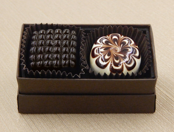 Box of 2 Art Glass Chocolates