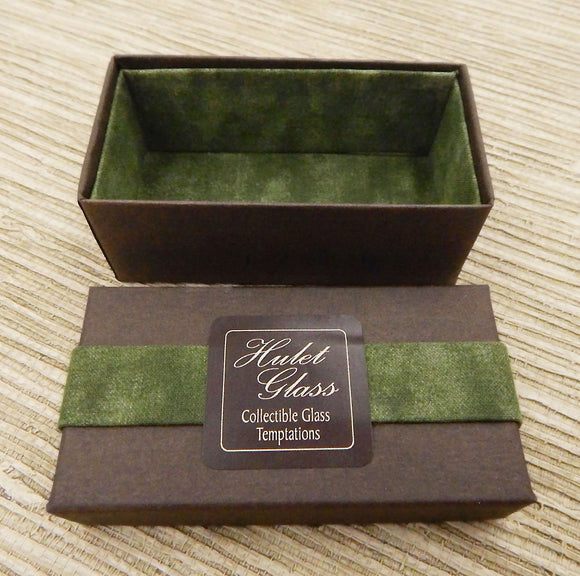 Empty Box for 2 Art Glass Chocolates