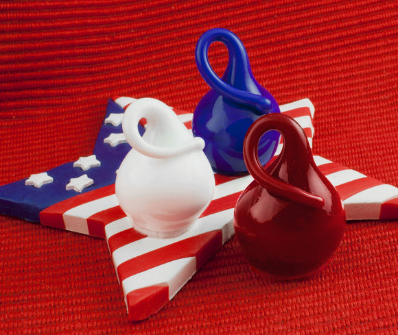 Patriotic Chocolate Drop, Red, White & Blue Colors