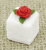 Single Rose Glass Sugar Cube - Assorted Colors
