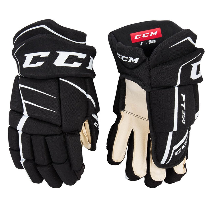CCM Jetspeed FT350 Glove Blk/White JR