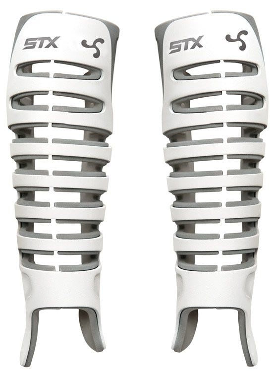 STX Valor Goalie Shin Guard White
