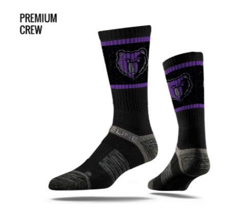IMSLA Rocky Strideline- Black Socks