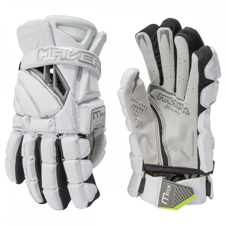Maverik Max Player Glove 2022 White