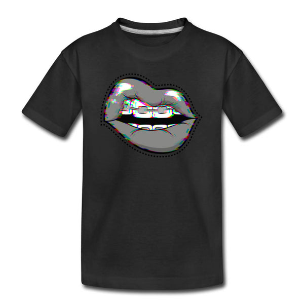 Girls Glitchy Lipsy Graphic Tee