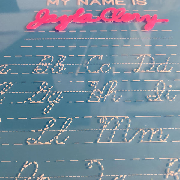Personalized Cursive Tracing Board