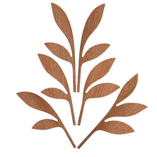 Fragrance diffuser leaves in mahogany wood