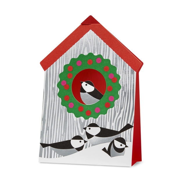 MoMA Holiday Pop-Up Card, Set of 8 - Holiday Birdhouse