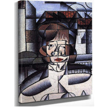 1912 portrait of Germaine Raynal by Juan Gris