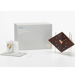 vitra diamond clock solid walnut
