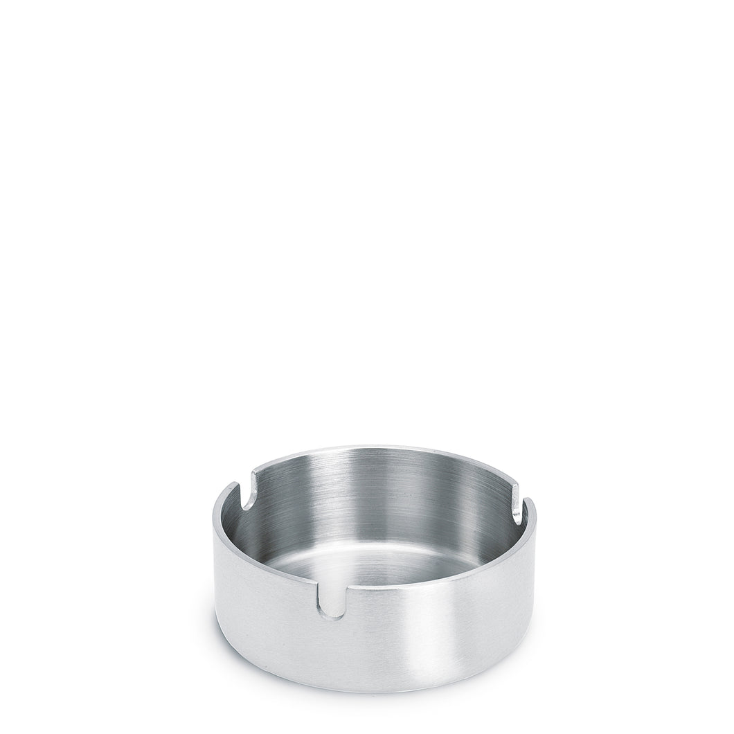 Stainless steel ashtray - round by blomus features a sleek design and will look inviting on any flat surface.