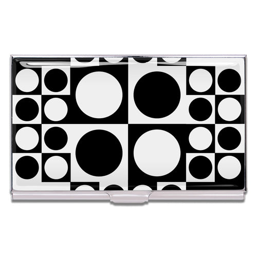 Geometri design by Verner Panton on a chrome plated stainless steel card case.