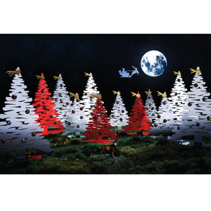 Alessi Bark for Christmas collection in various colors and sizes.
