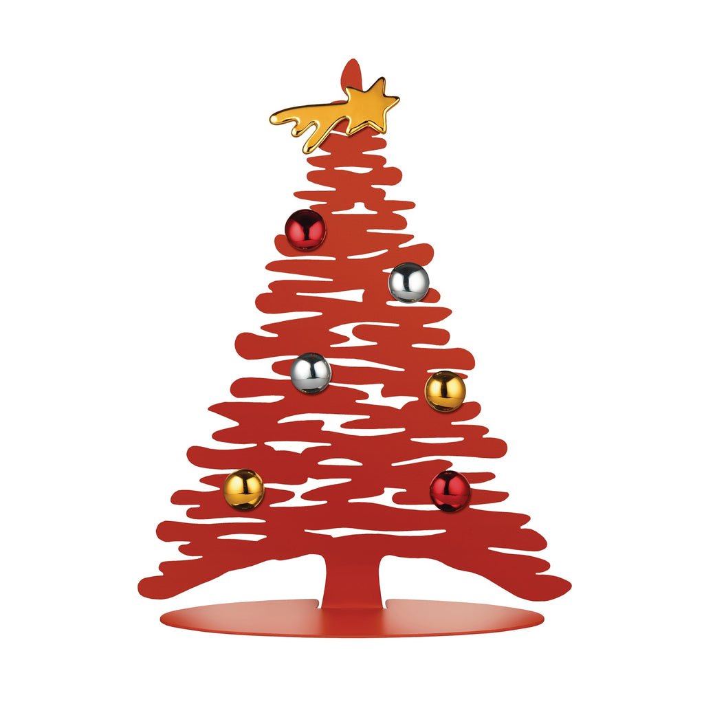 Alessi Bark for Christmas magnetic decorative tree in red epoxy resin, small version.