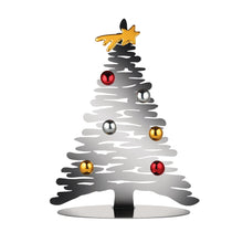 Alessi Bark for Christmas magnetic tree in polished stainless steel, small verson.