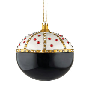 Alessi home ornament in porcelain, hand decorated as a royal embellished lady bug (back side).