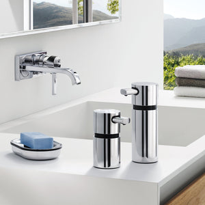 Blomus AERO polished soap dispensers, two sizes.