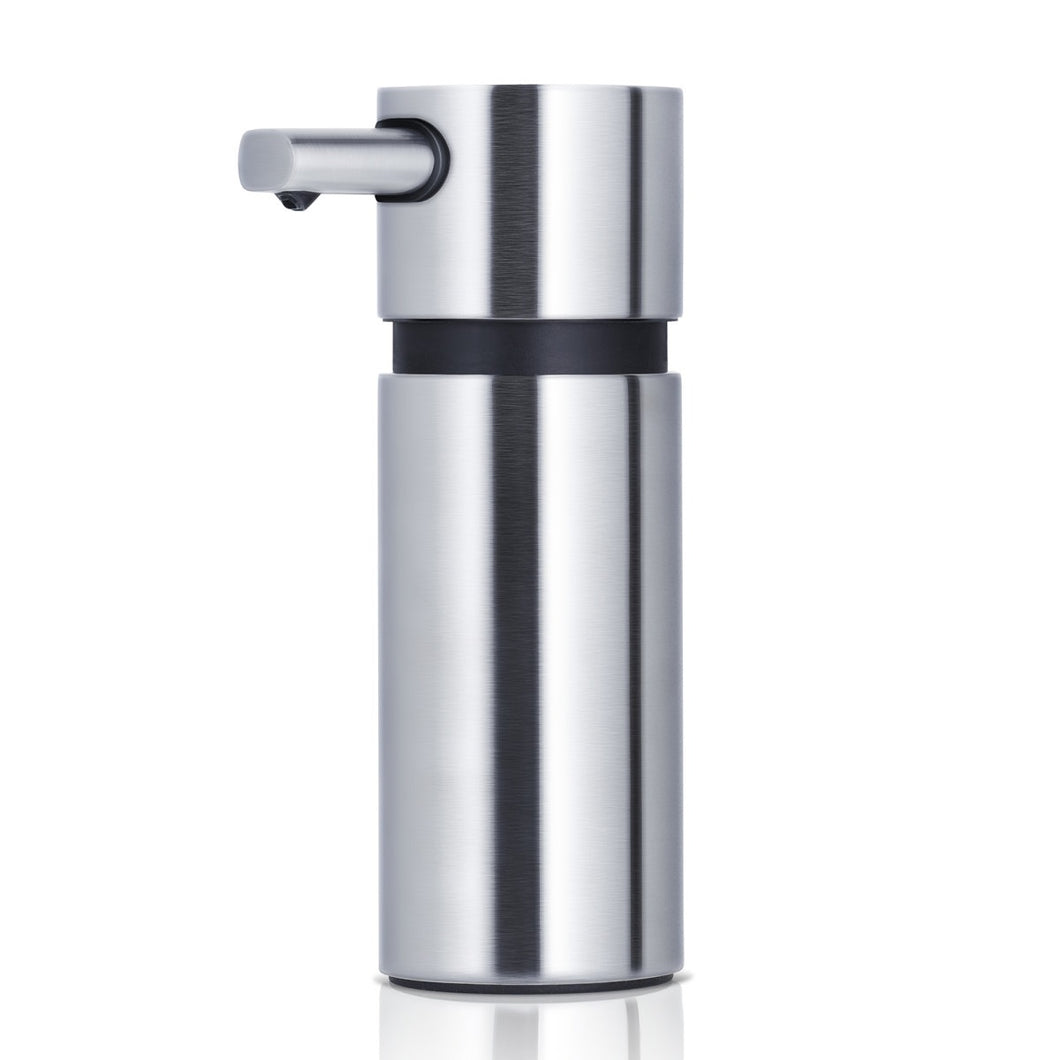 Blomus AERO soap dispenser, 7.4 oz, brushed steel.