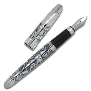 Circles Etched Fountain Pen