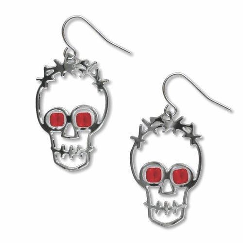 Art and Architectural Earrings Two Skulls