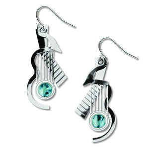 Art and Architectural Earrings Cubist Guitar