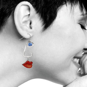 Art and Architectural Earrings Cubist Profile