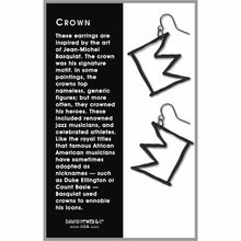 Art and Architectural Earrings Jean-Michel Basquiat Crown
