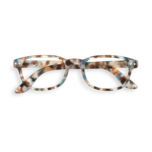 "IZIPIZI ""Blue Tortoise"" Color Reading Glasses, shape ""B"""