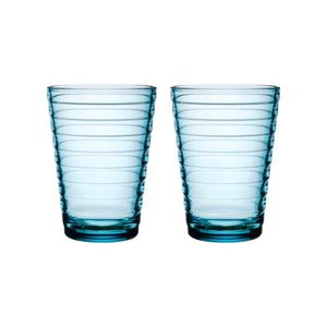 Iittala Aalto Tumblers, 11oz, Set/2, Light Blue