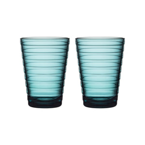 Iittala Aalto Tumblers, 11oz, Set/2, Sea Blue