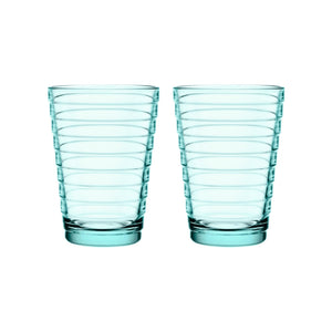 Iittala Aalto Tumblers, 11oz, Set/2, Water Green
