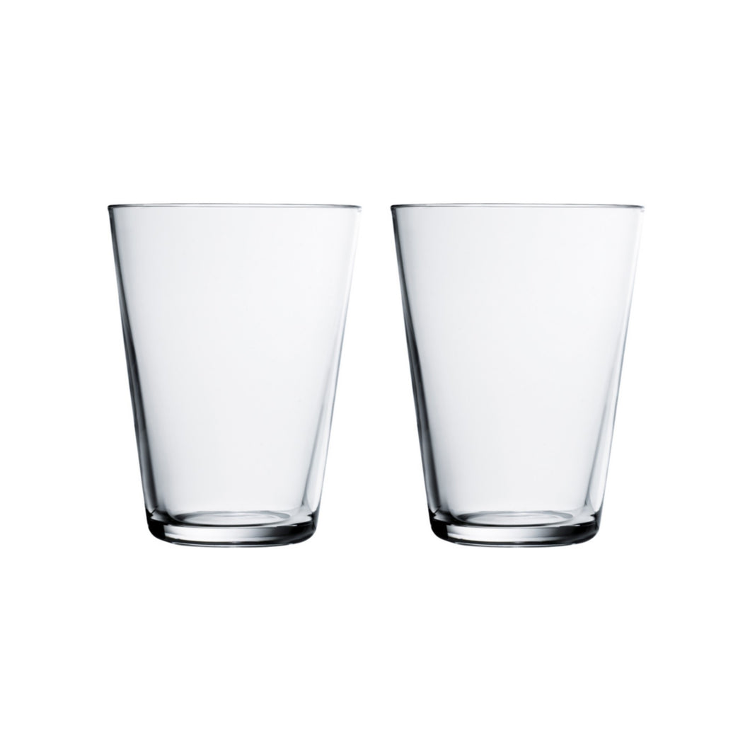 Iittala Kartio Tumbler, 13.5oz, set/2, Clear