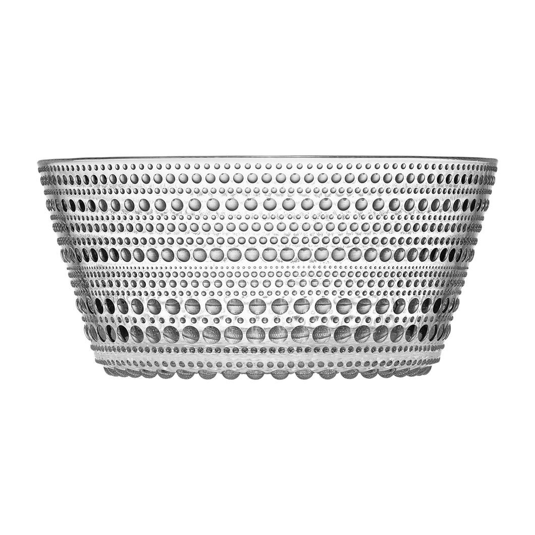 Clear 1.4L serving bowl with dew drop inspired design.