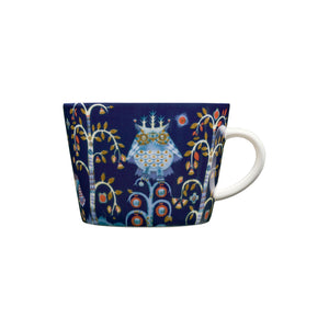 Iittala Blue Taika coffee/tea cup, 6.75oz, porcelain.