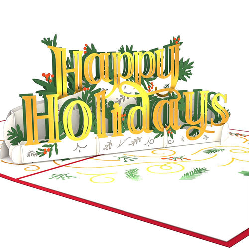 Lovepop Pop Up Greeting Card Happy Holidays